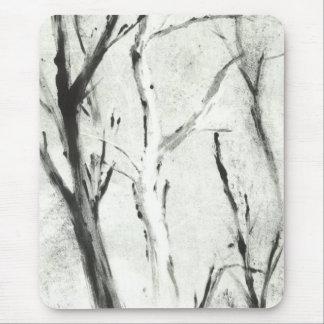白い木のMonotypeのマウスパッド マウスパッド