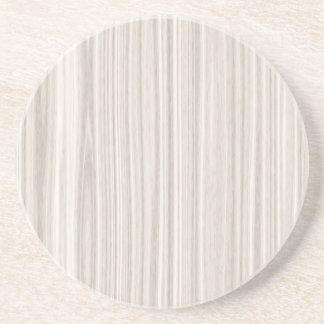 白い木製の穀物 コースター