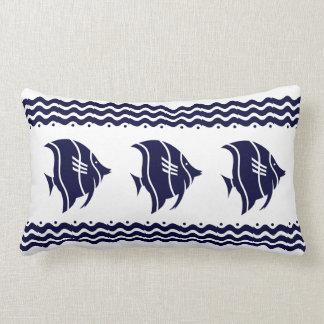 白い枕沿岸生活の海軍魚 ランバークッション