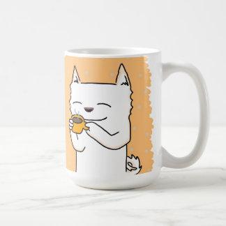 白い柴犬のコーヒー・マグ! コーヒーマグカップ