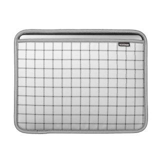 白い格子縞 MacBook スリーブ