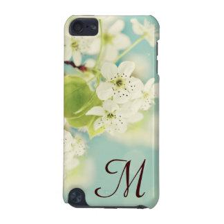 白い桜のモノグラムのイニシャルIpod touch iPod Touch 5G ケース