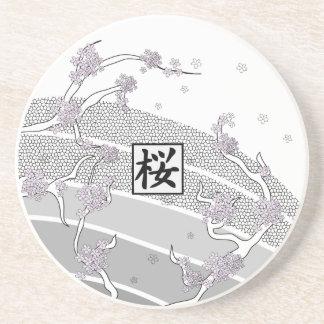 白い桜の木 ドリンク用コースター