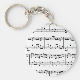 白い楽譜Keychain キーホルダー