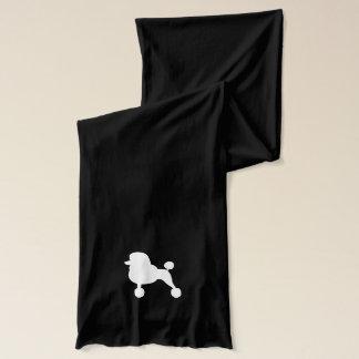 白い標準プードルのシルエット スカーフ