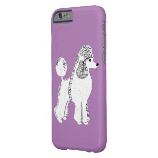 白い標準プードルの薄紫のiPhone6ケース Barely There iPhone 6 ケース