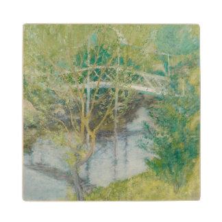 白い橋、c.1895 (キャンバスの油) ウッドコースター