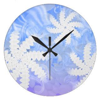 白い歯のスマイルの花の回転の歯科医の柱時計 ラージ壁時計