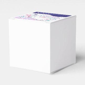 白い民俗結婚式の版/青 フェイバーボックス