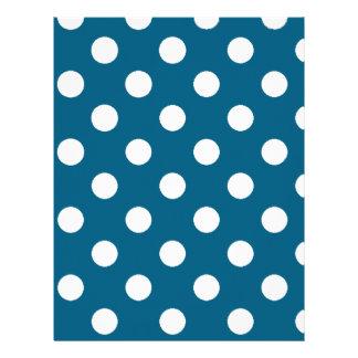 白い水玉模様が付いている青 レターヘッド