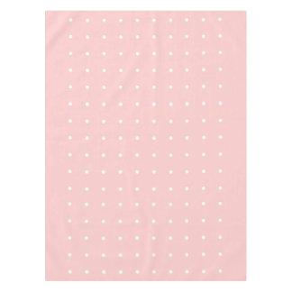 白い水玉模様のテーブルクロスとのレトロのピンク テーブルクロス