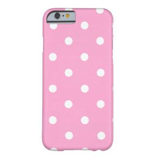 白い水玉模様 BARELY THERE iPhone 6 ケース