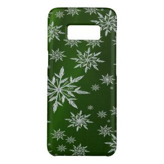 白い氷晶が付いている緑のクリスマスの星 Case-Mate SAMSUNG GALAXY S8ケース