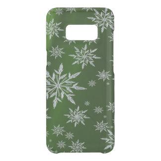 白い氷晶が付いている緑のクリスマスの星 GET UNCOMMON SAMSUNG GALAXY S8ケース