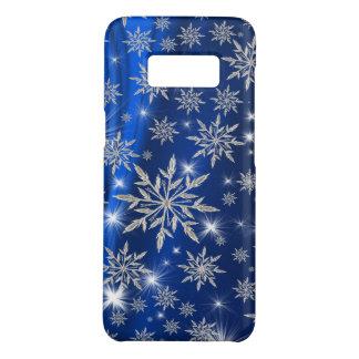 白い氷晶が付いている青いクリスマスの星 Case-Mate SAMSUNG GALAXY S8ケース