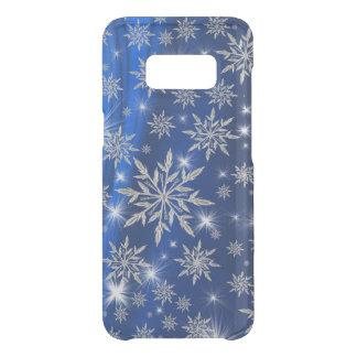 白い氷晶が付いている青いクリスマスの星 GET UNCOMMON SAMSUNG GALAXY S8ケース