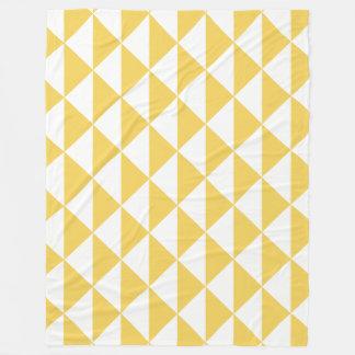 白い沿岸幾何学的な矢とのサクラソウの黄色 フリースブランケット