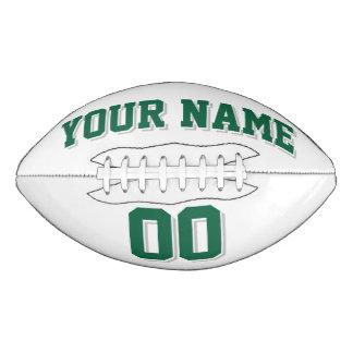 白い深緑色および銀製灰色の習慣のフットボール アメリカンフットボール