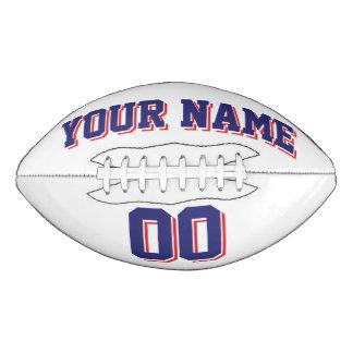 白い濃紺および赤の習慣のフットボール アメリカンフットボール