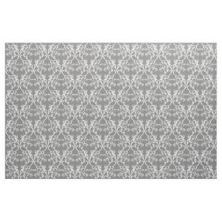 白い灰色のパリのダマスク織パターン生地 ファブリック