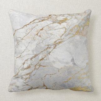 白い灰色の銀製の真珠のような金ゴールドVIPのブラシの大理石 クッション