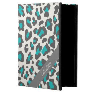 、白い灰色、ヒョウのプリント水のiPadの空気箱 Powis iPad Air 2 ケース