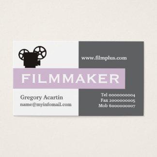 、白い灰色、映画製作者アザミの紫色 名刺