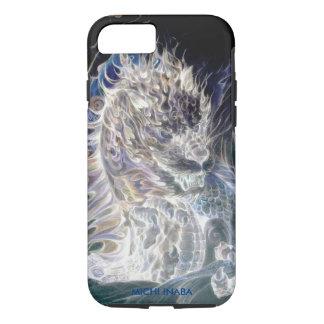 白い炎のドラゴンの白炎龍 iPhone 7ケース