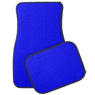 白い点が付いているカーマットのロイヤルブルー カーマット
