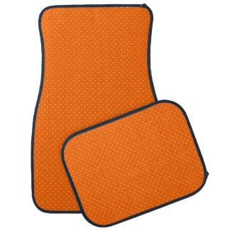 白い点とオレンジカーマット カーマット