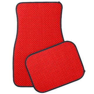 白い点と赤いカーマット カーマット