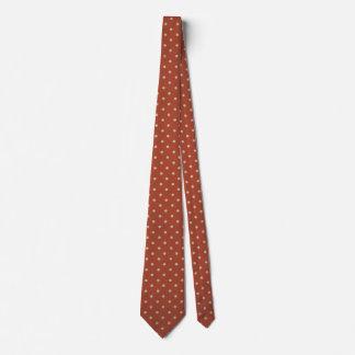 白い点のタイとの赤 オリジナルネクタイ