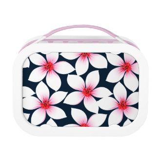 白い熱帯ハイビスカスの花 ランチボックス