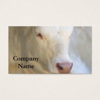 白い牛名刺 名刺