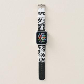 白い犬のPapercutの旧正月2018年腕時計B Apple Watchバンド