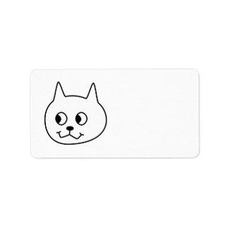 白い猫の漫画 ラベル