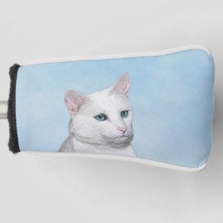 白い猫の絵画-かわいい元の猫の芸術 ゴルフヘッドカバー