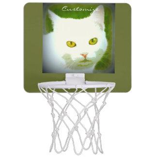 白い猫の顔パターンThunder_Cove ミニバスケットボールゴール