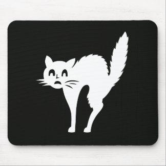 白い猫ペットかわいいクリスマスのプレゼント マウスパッド