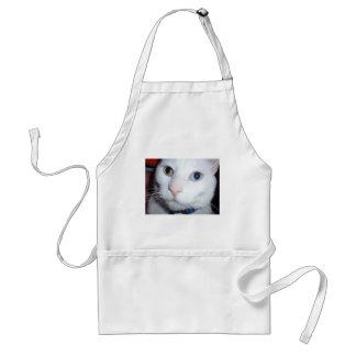 白い猫 スタンダードエプロン