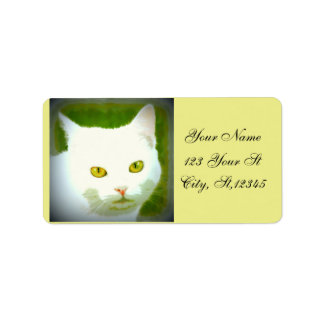 白い猫 ラベル