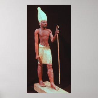 白い王冠とのSesostris Iの彫像 ポスター