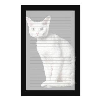 白い異様目の猫3 便箋