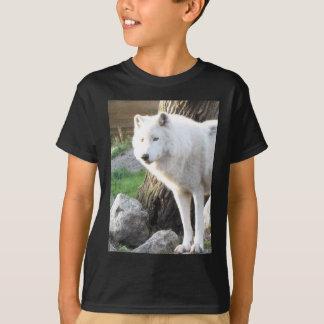 白い白子のオオカミの精神- Therianのギフト Tシャツ
