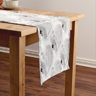 白い白鳥 ショートテーブルランナー