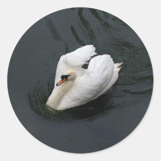 白い白鳥 ラウンドシール