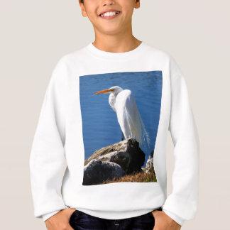 白い白鷺 スウェットシャツ