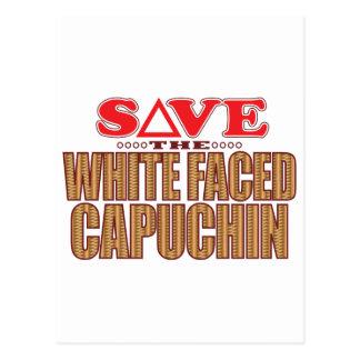 白い直面されたCapuchinの保存 ポストカード