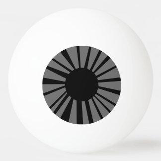 白い眼球のダークグレーの目及び黒の生徒 卓球ボール