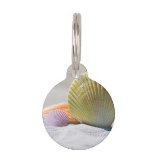 白い砂の貝殻 ペット ネームタグ